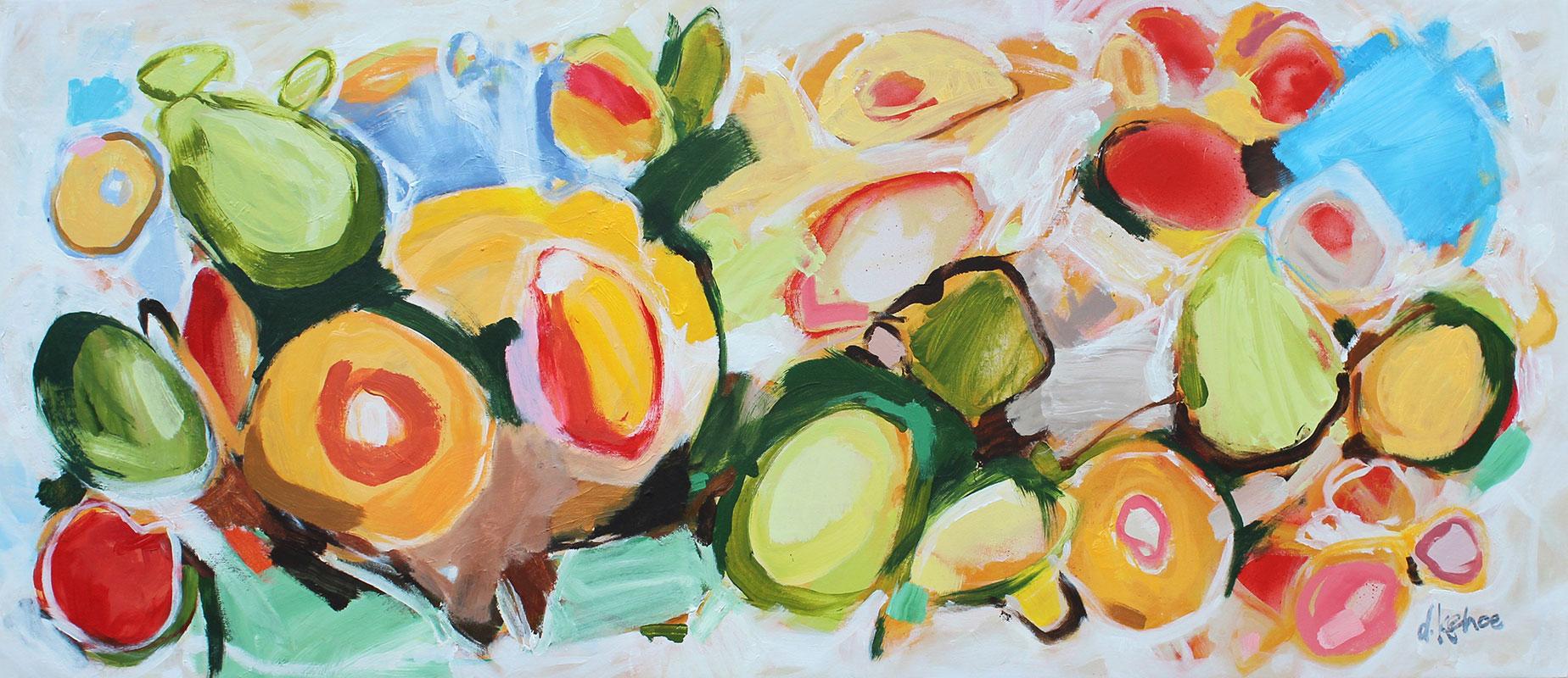 Dianne Kehoe - Chardonnay! - Acrylic on canvas