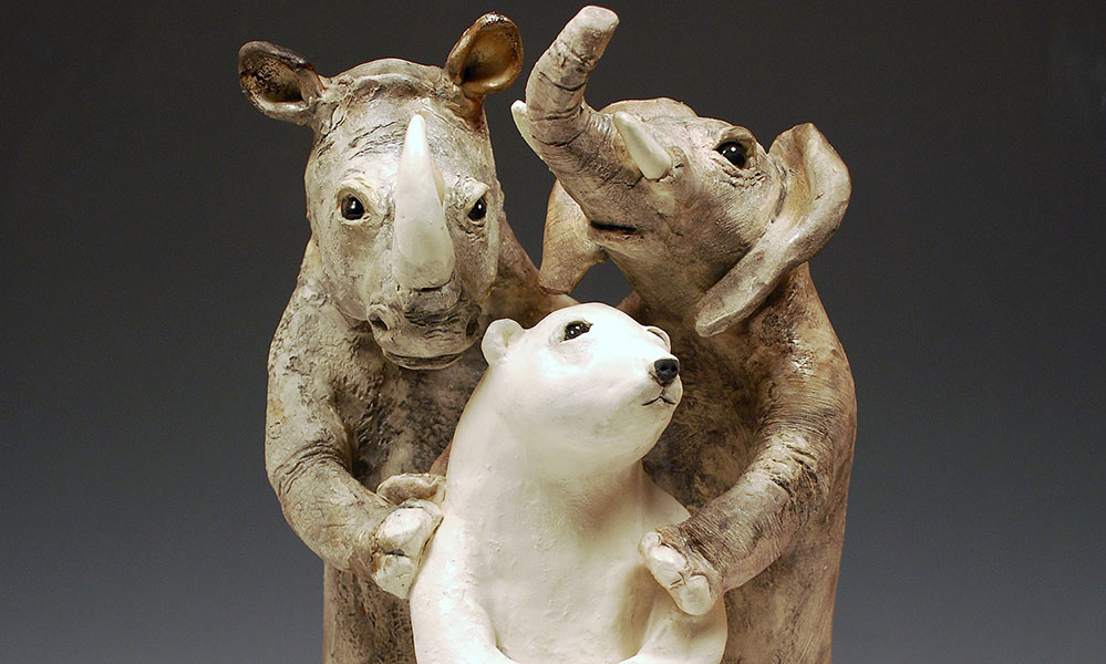 Florence Chik-Lau, Empathy, Ceramic Sculpture