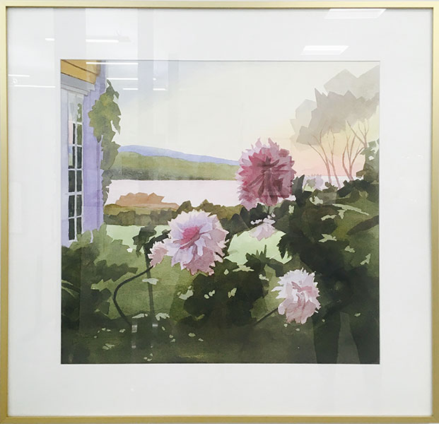 Andrew Innes – Dahlias at Dawn – Watercolour on paper