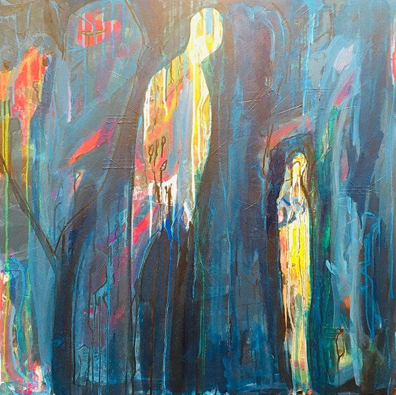Jennifer Topaz Bruce - Time Matters - Acrylic