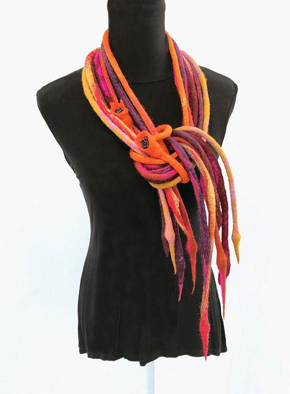 Pauline Dinham – Titania - Merino, silk and beads