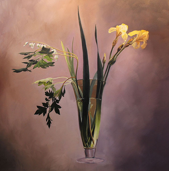 Tracy Douglas, Yellow Irises, Oil