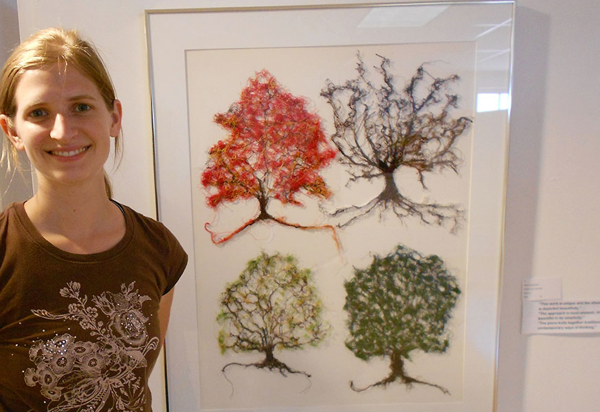 Robin Everhardus, All the trees of the field, Fibre Art