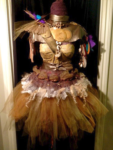 Saralou Miller, Forest Nymph Warrior Chic, Wearable Textile Copper Bronze