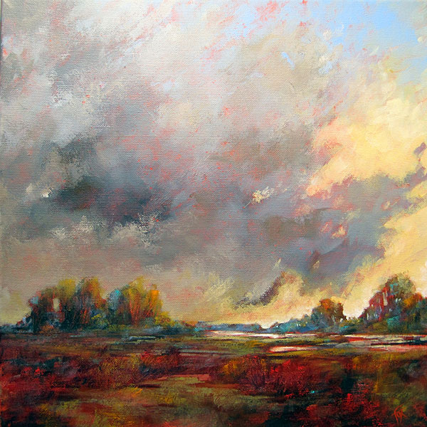 Sharon Fox Cranston, In the County VI, Acrylic